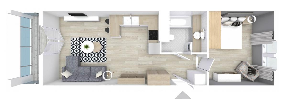 Mieszkanie 44,67 m2, Graniczna, Rzeszów