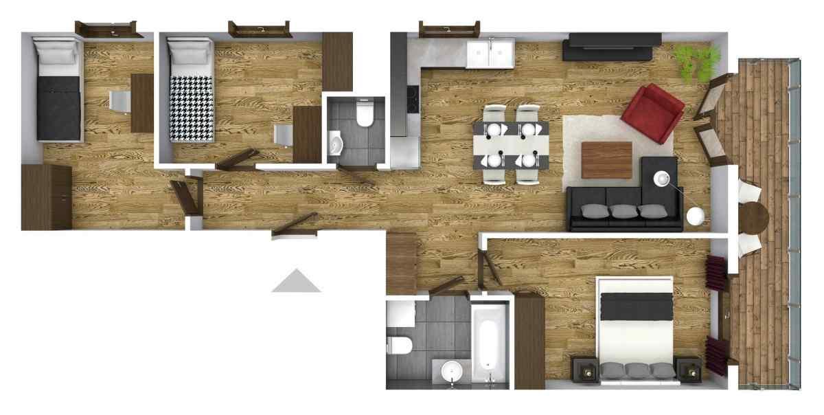 Mieszkanie 69,64 m2, Graniczna, Rzeszów