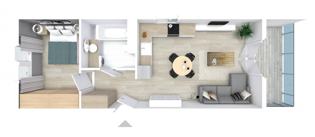 Mieszkanie 41,05 m2, Graniczna, Rzeszów