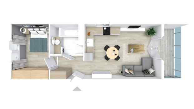 Mieszkanie 38.87 m2