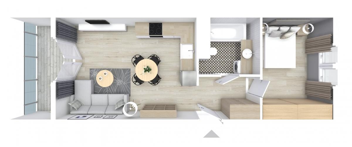 Mieszkanie 40,39 m2, Graniczna, Rzeszów