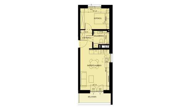 Mieszkanie 39.74 m2