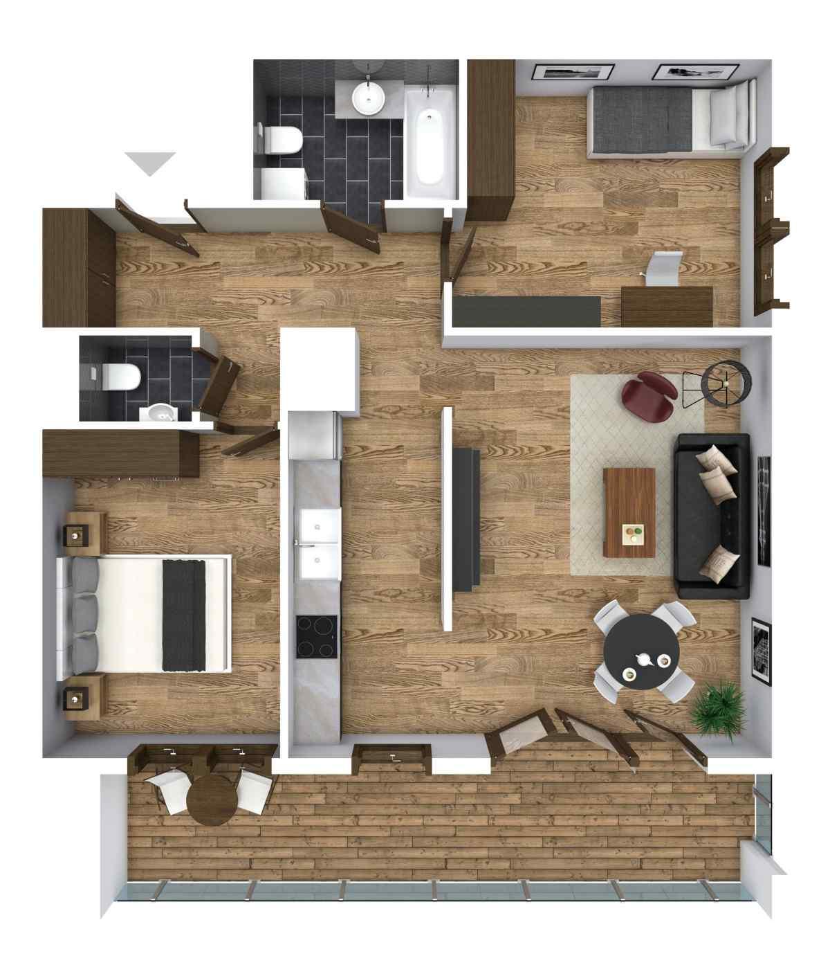 Mieszkanie 66,04 m2, Graniczna, Rzeszów