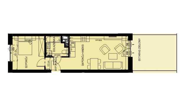 Mieszkanie 41.79 m2