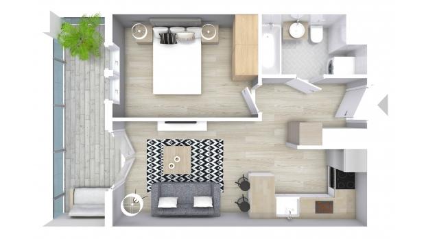 Mieszkanie 36.47 m2