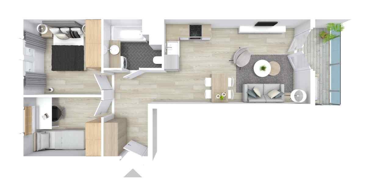 Mieszkanie 53,99 m2, Graniczna, Rzeszów