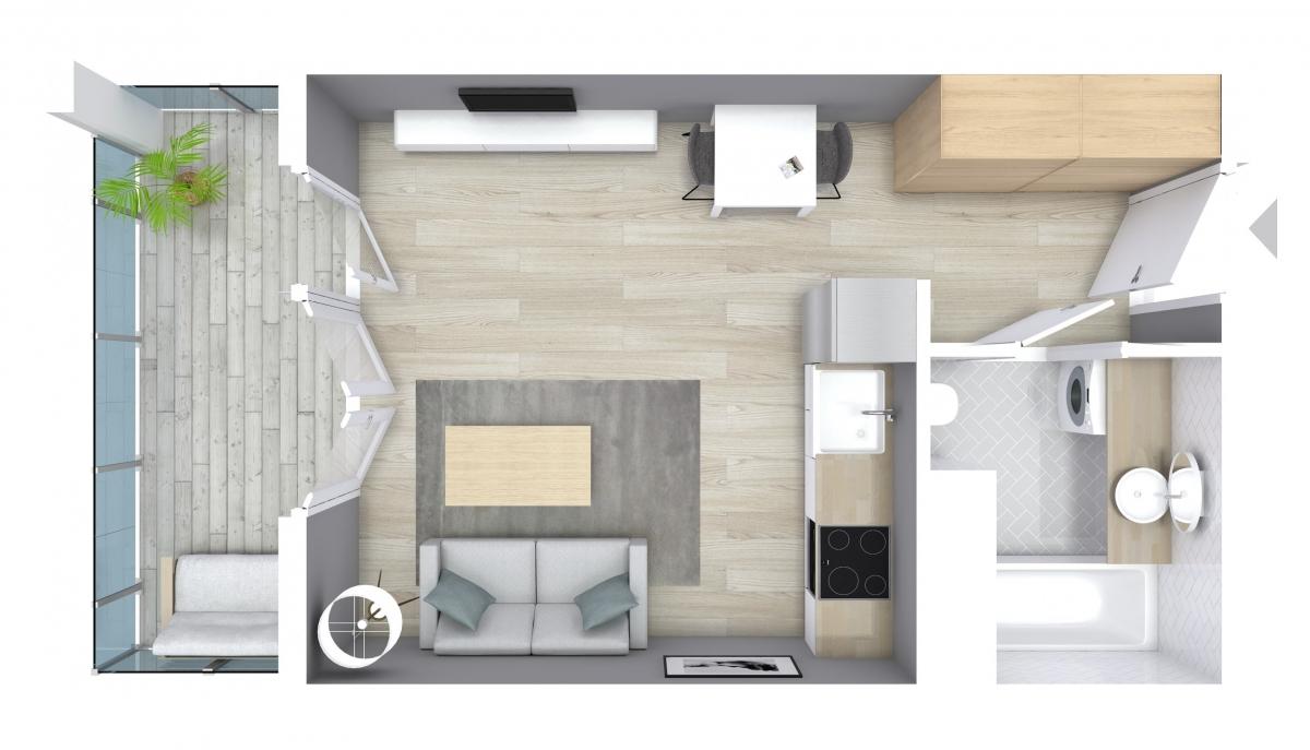 Mieszkanie 28,36 m2, Graniczna, Rzeszów