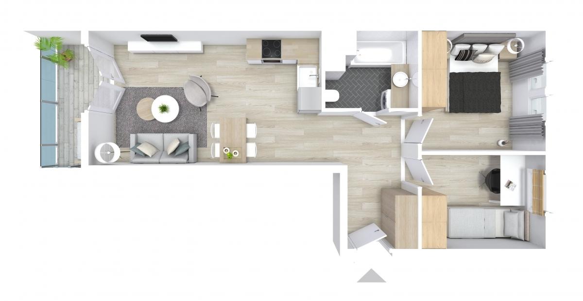 Mieszkanie 54,59 m2, Graniczna, Rzeszów