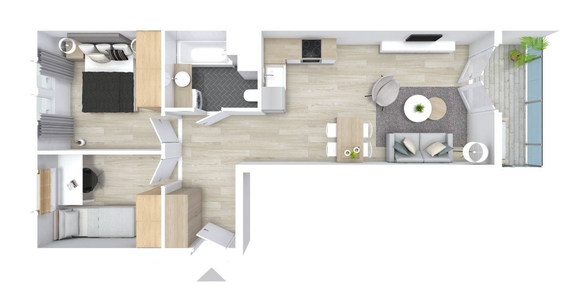 Mieszkanie 54,24 m2, Graniczna, Rzeszów