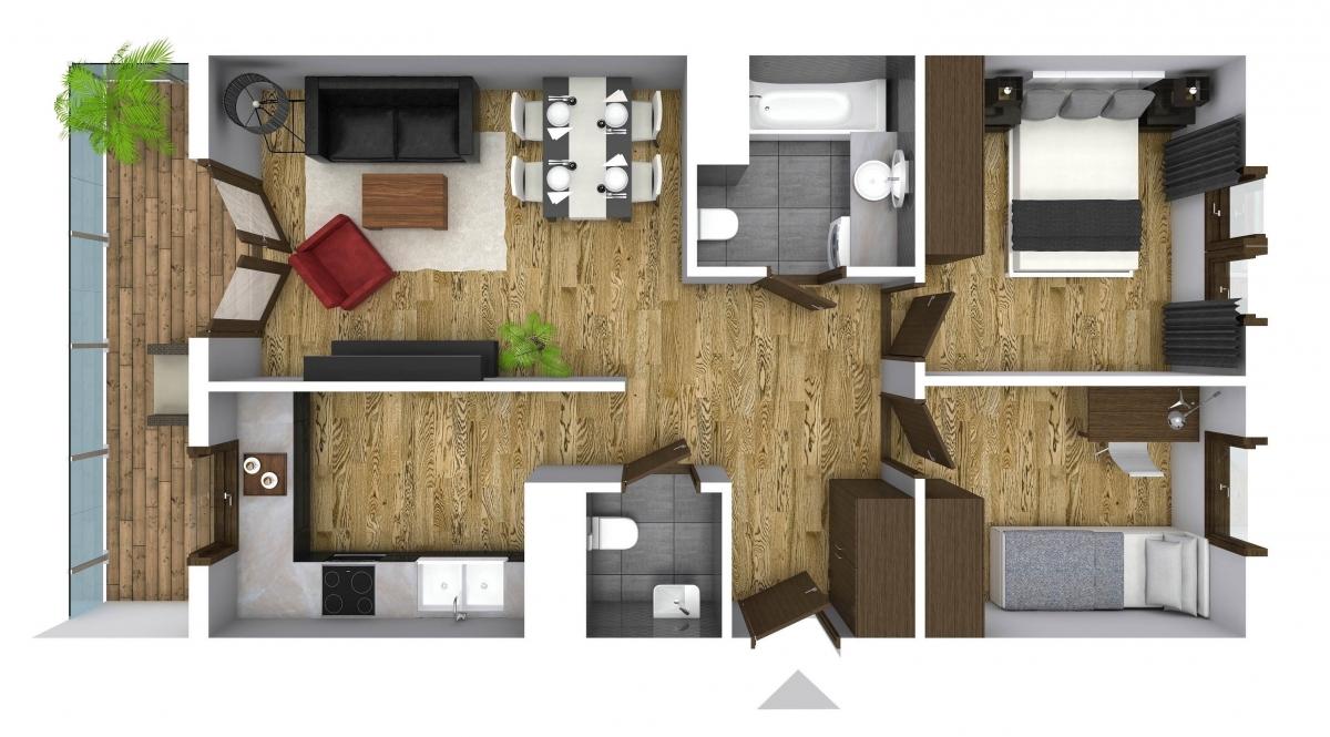 Mieszkanie 61,42 m2, Graniczna, Rzeszów