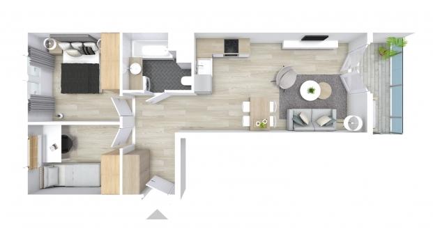Mieszkanie 53.51 m2