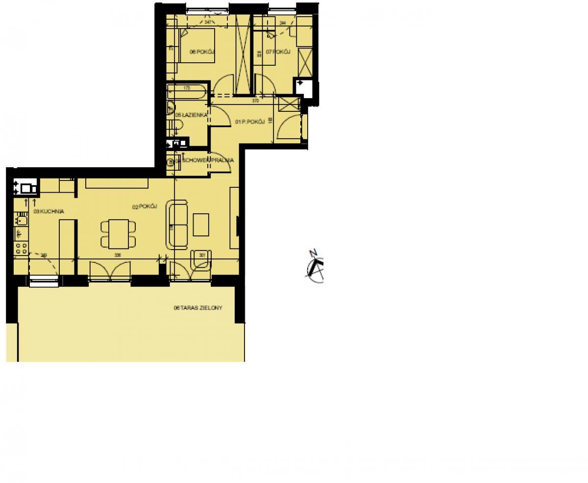 Mieszkanie 68,32 m2, Graniczna, Rzeszów
