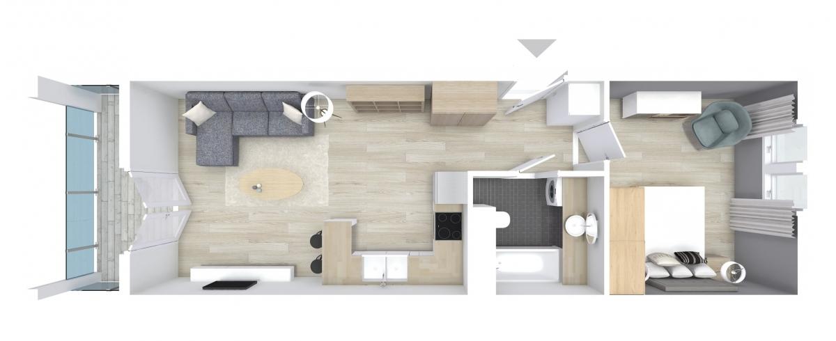 Mieszkanie 44,66 m2, Graniczna, Rzeszów