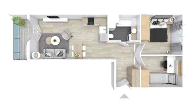 Mieszkanie 54.59 m2
