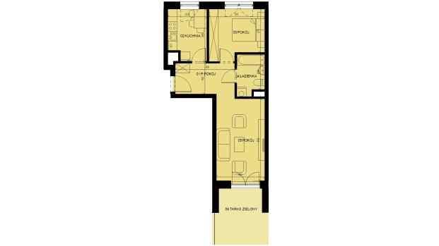 Mieszkanie 44.67 m2