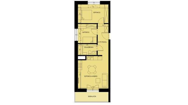 Mieszkanie 51.44 m2