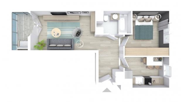 Mieszkanie 45.86 m2