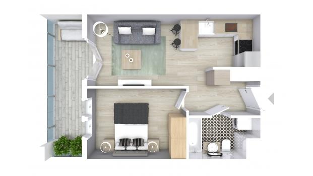 Mieszkanie 36.88 m2