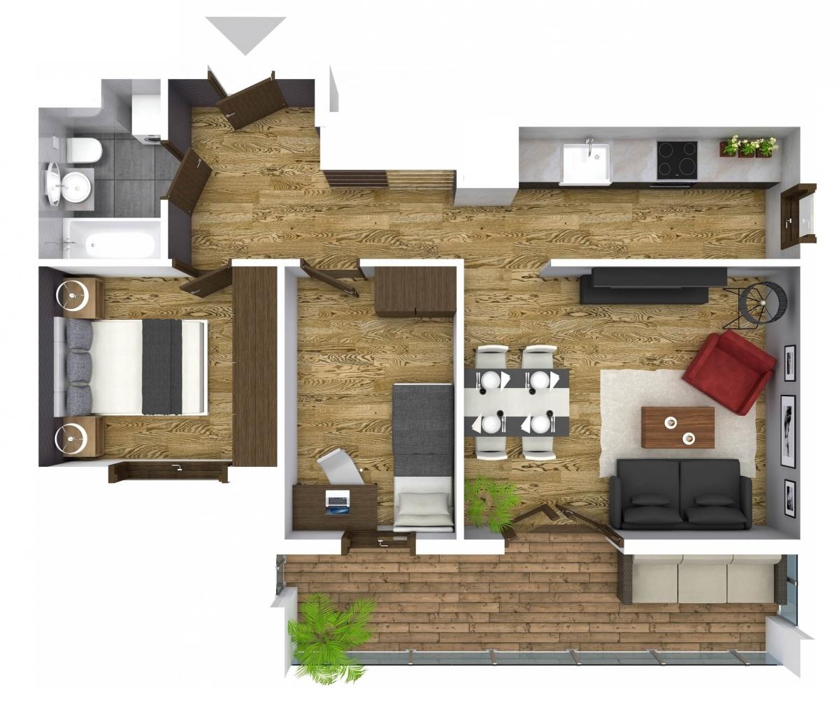 Mieszkanie 59,52 m2, Graniczna, Rzeszów