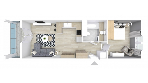 Mieszkanie 46.00 m2