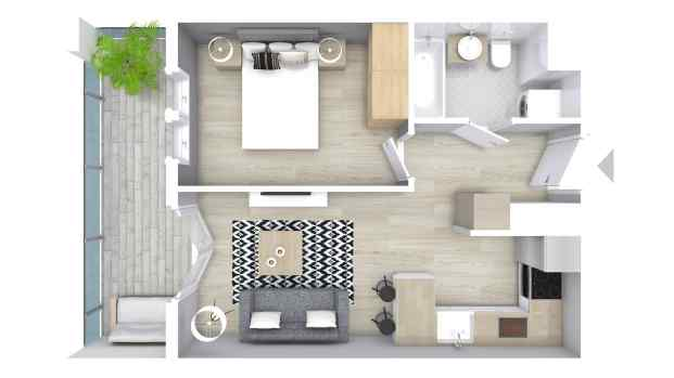 Mieszkanie 34.47 m2