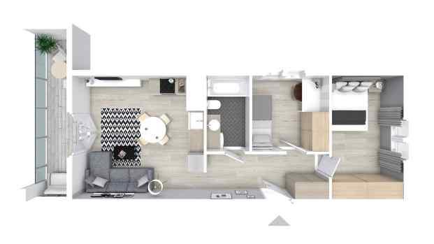 Mieszkanie 51.74 m2