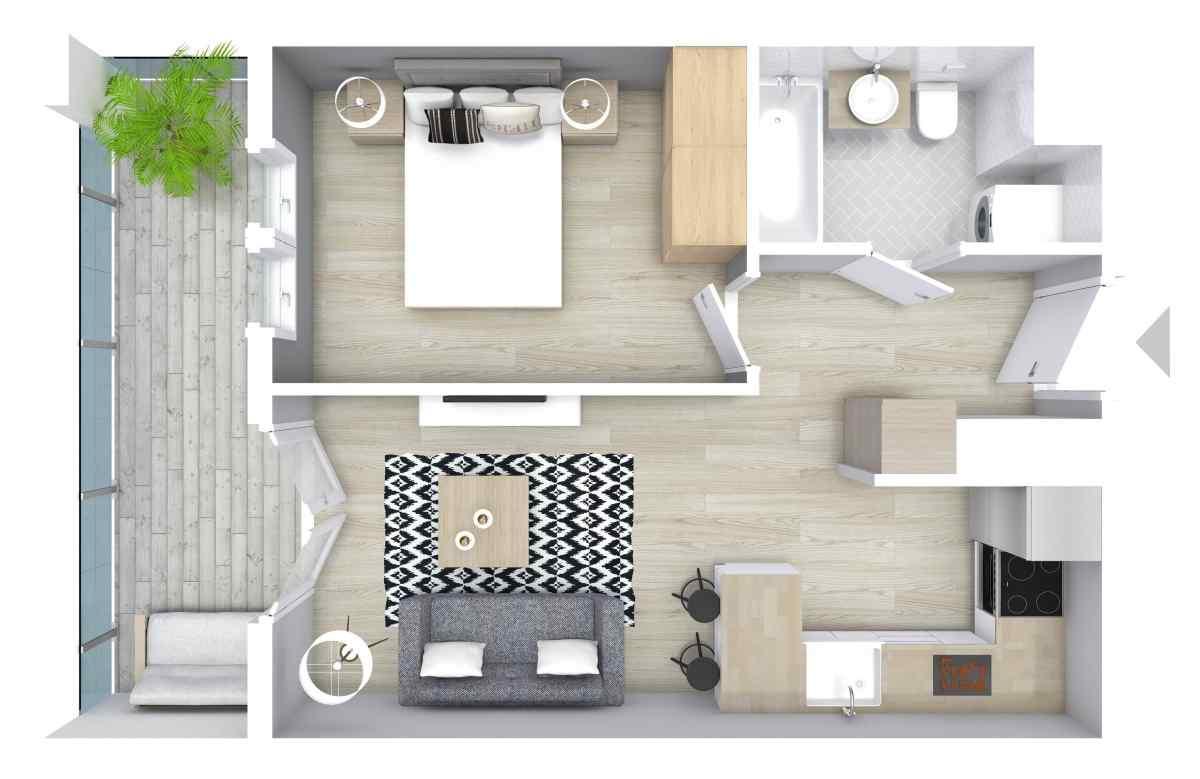 Mieszkanie 34,47 m2, Graniczna, Rzeszów