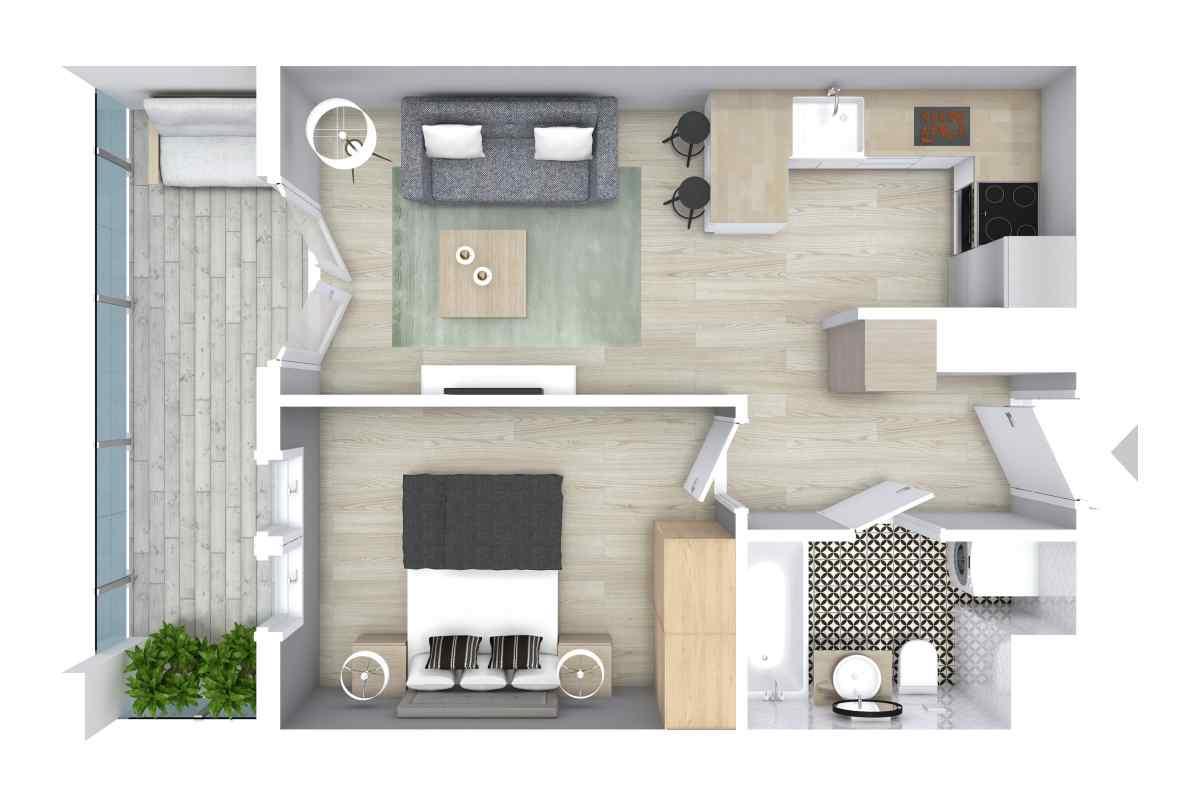 Mieszkanie 34,36 m2, Graniczna, Rzeszów