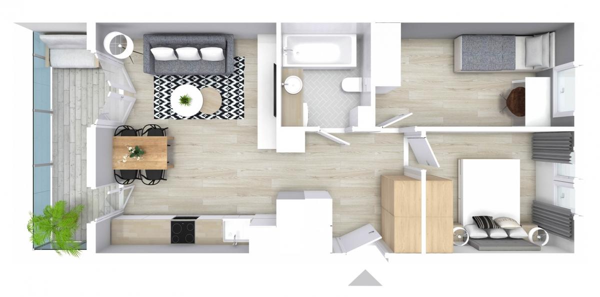 Mieszkanie 52,48 m2, Graniczna, Rzeszów