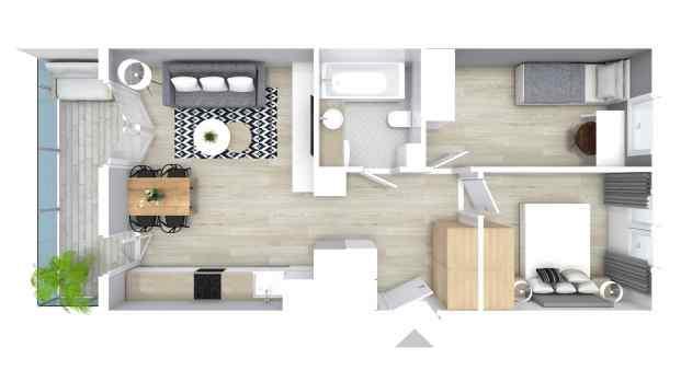Mieszkanie 51.33 m2