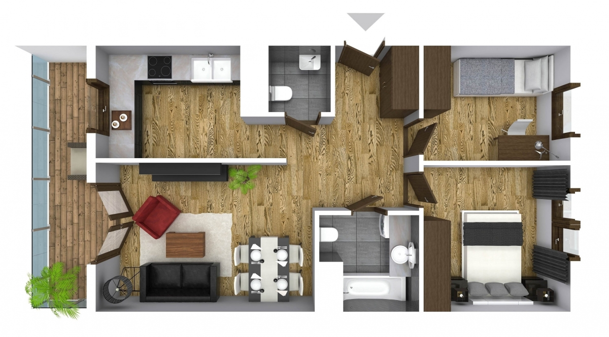 Mieszkanie 60,96 m2, Graniczna, Rzeszów