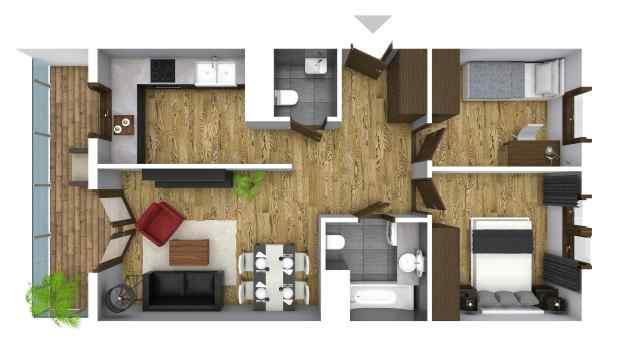 Mieszkanie 60.96 m2