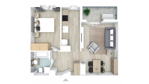 Mieszkanie 47.88 m2