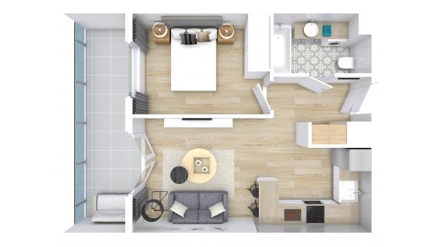 Mieszkanie 38.09 m2