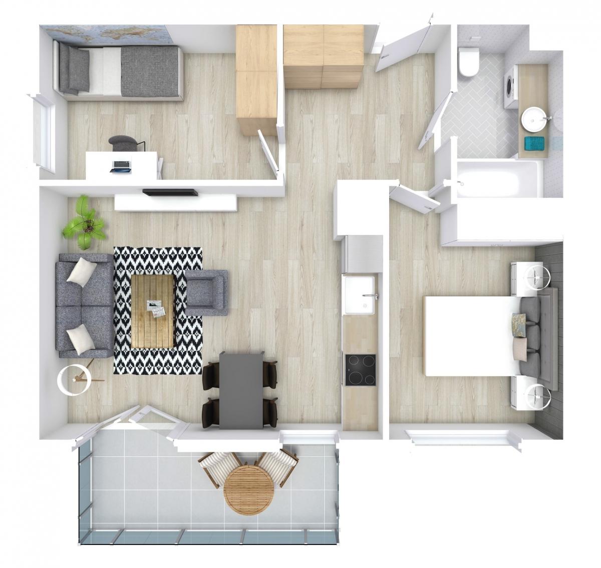 Mieszkanie 53,05 m2, Zaciszna 5, Rzeszów