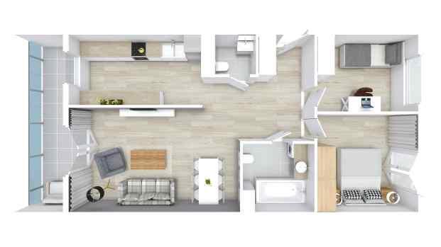 Mieszkanie 65.90 m2