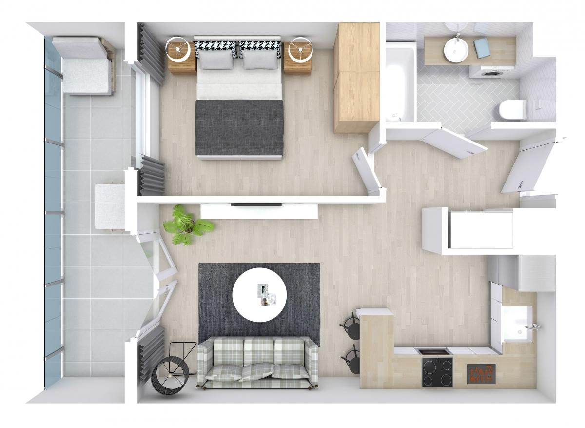 Mieszkanie 38,17 m2, Zaciszna 5, Rzeszów