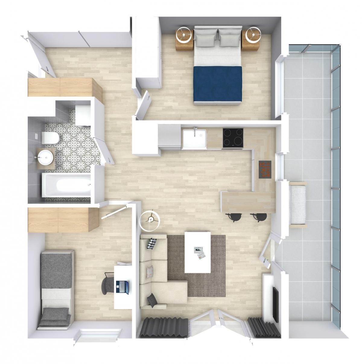 Mieszkanie 53,75 m2, Zaciszna 5, Rzeszów