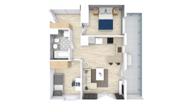 Mieszkanie 53.75 m2