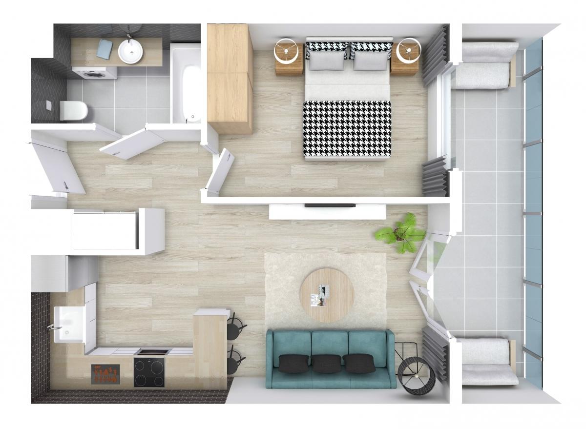 Mieszkanie 38,09 m2, Zaciszna 5, Rzeszów