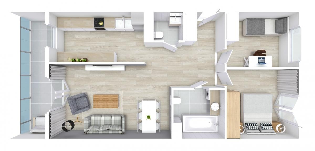 Mieszkanie 66,18 m2, Zaciszna 5, Rzeszów