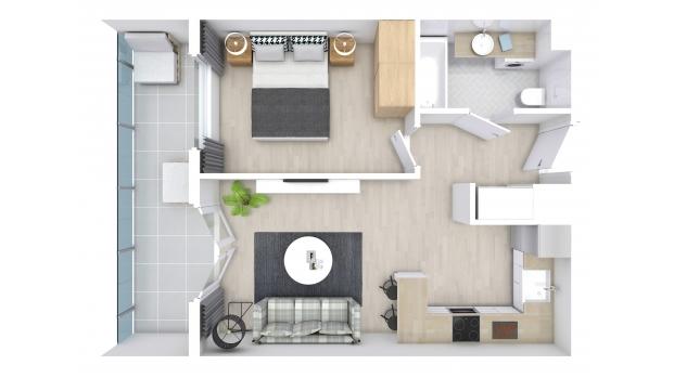 Mieszkanie 38.17 m2