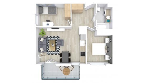 Mieszkanie 53.06 m2