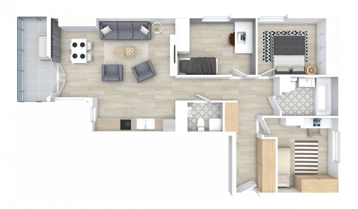 Mieszkanie 80,62 m2, Zaciszna 5, Rzeszów