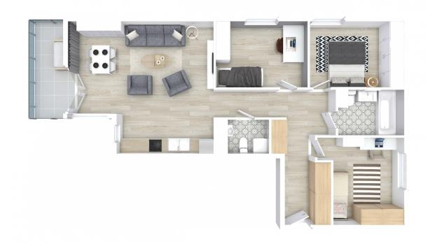 Mieszkanie 80.62 m2