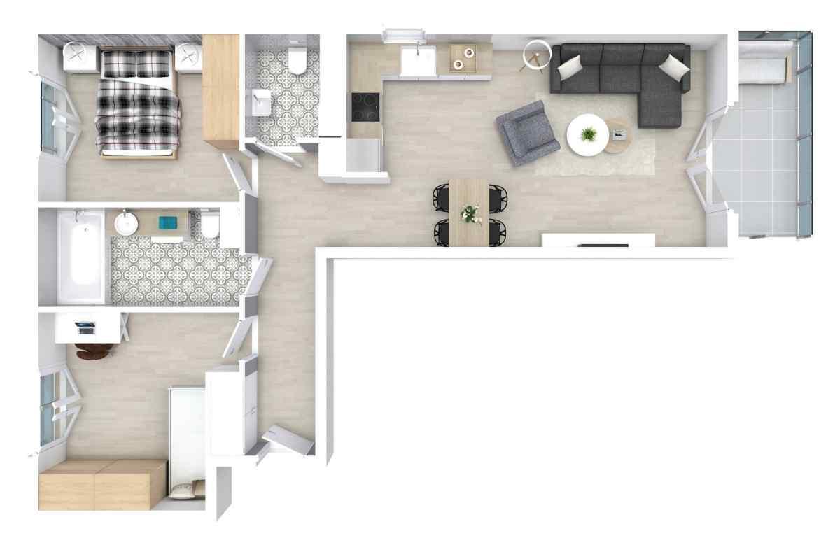 Mieszkanie 59,61 m2, Zaciszna 5, Rzeszów