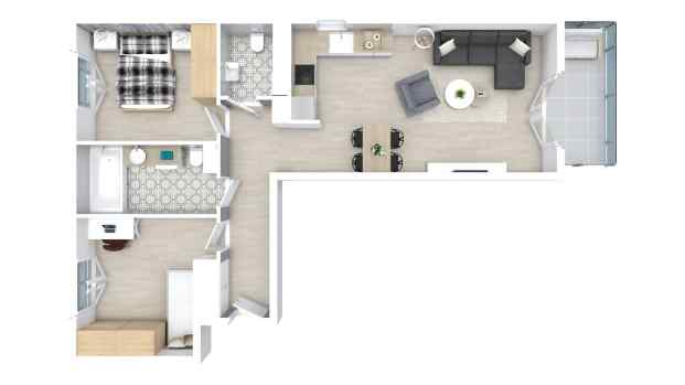 Mieszkanie 59.61 m2