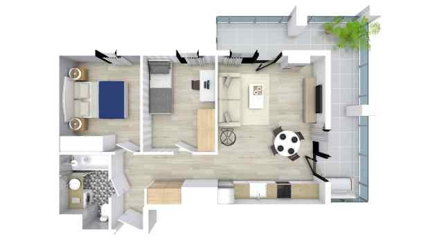 Mieszkanie 51.91 m2
