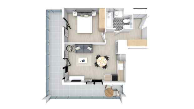 Mieszkanie 39.77 m2