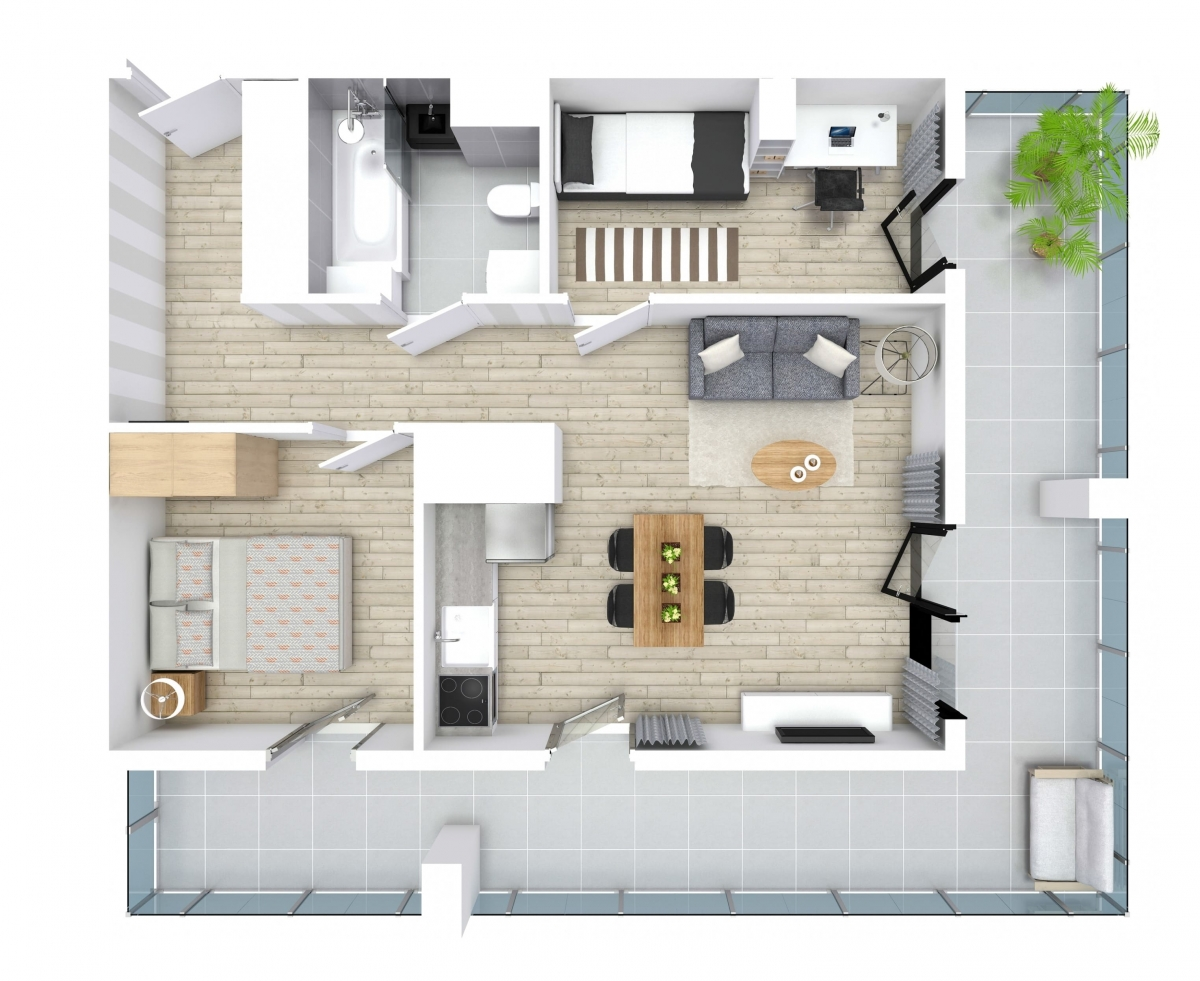 Mieszkanie 49,65 m2, Kwiatkowskiego 4, Rzeszów